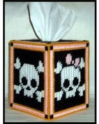 His And Hers Skulls Tissue Box Cover