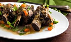 Recipe: Vermouth-braised short ribs with spring herbs || Photo: Andrew Scrivani for The New York Times