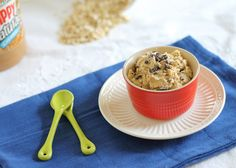 """Healthy"" Peanut Butter Cookie Dough Dip #vegan"