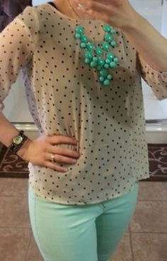 Polka dots & mint? Yes, please!