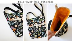 Foldover Bag Tutorial from Anna @ Noodlehead
