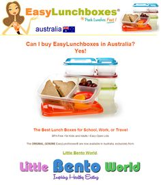The #1 Best-selling lunch boxes on Amazon.com are now availble in Australia! ► http://littlebentoworld.com/shop/bento-lunch-box/easylunchboxes/
