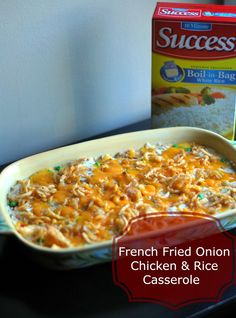 Aunt Bee's Recipes: {French Fried Onion} Chicken & Rice Casserole #SuccessRice #AD