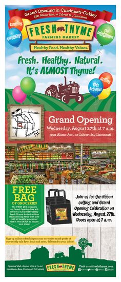 Fresh Thyme Farmer's Market Grand Opening Giveaway - ends 8/31/14