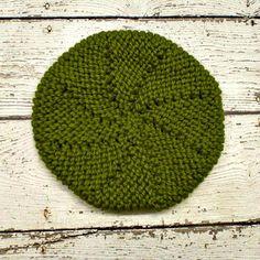 Meriweather Wedge Beret Hat in Lemon Grass Green