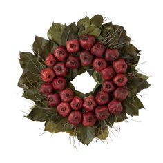 Terrain Dried Pomegranate Wreath #shopterrain. This is my favorite wreath of all time!