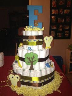 Another diaper cake i made for my cousin (owl themed)