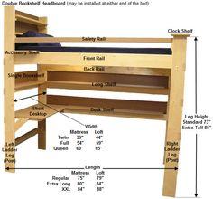 bunk beds, dorm room lofts, bed lofts, dorm loft ideas, college dorm loft bed, dorm room loft bed, kid room, colleg bed, lofting dorm beds