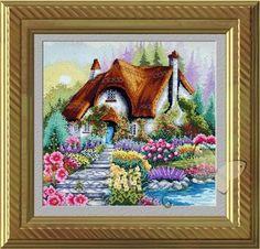 Gallery.ru / Домик с соломенной крышей - Домик в саду - oksiakshn