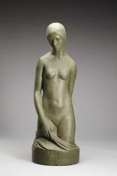 artgalleryofontario:  Study of a Girl, c. 1926 Florence Wyle, Canadian, 1881 - 1968.  Plaster, patina