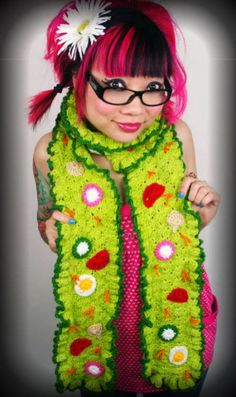 Twinkie Chan's Crochet Salad Scarf