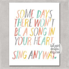 Sing Anyway Print