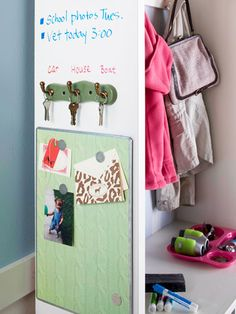 white boards, bulletin boards, mud rooms, mudroom storag, messag board