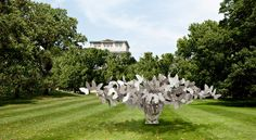 "Reflections of Nature, Towering in the Grass     Manolo Valdés/Marlborough Gallery, New York  A rendering of ""Butterflies,"" one of seven immense works by Manolo Valdés to appear at the New York Botanical Garden.  By ROBIN POGREBIN  Published: August 28, 2012"