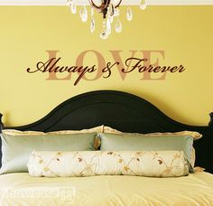 Wall quote - bedroom