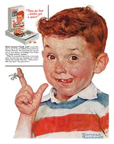 1955 Norman Rockwell Kellogg's ad