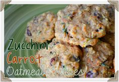 Zucchini Carrot Oatmeal Craisin Cookies | MomOnTimeout.com  These amazing zucchini cookies are packed full of zucchini, carrots, oatmeal, Craisins, and coconut!  All the good stuff!