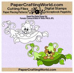 Sweet Pea Bear Digital Printable. Direct Link: http://www.papercraftingworld.com/item_861/Sweet-Pea-Bear-DS.htm