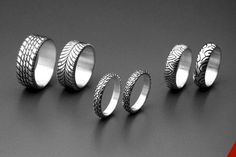 I think I just found our wedding bands. Motorcycle tires? Yes please!