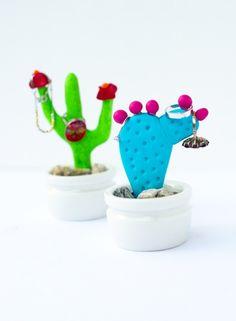 Handmade Cactus Jewelry Holders
