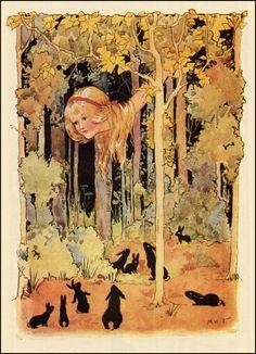 margaret tarrant alice, rabbits, alic adventur, alice in wonderland, art, 1916, bunni rabbit, illustr, aliceinwonderland