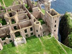 Ruins of Slains Castle from the book I'm reading...The Winter Sea.  Scotland.  One day I will visit.