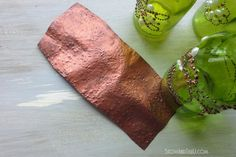 Soda Can Faux Hammered Copper Texture :: Hometalk