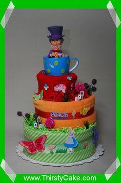 Alice in Wonderland Diaper Cake TOOO CUTE