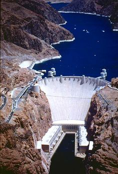 Hoover Dam in Black Canyon of the Colorado River, USA