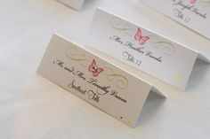 Placecards made by one of my wonderful bridesmaids (courtesy of Pearl Stationary)