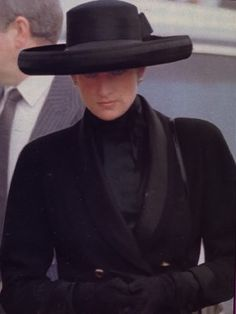 Diana in March, 1992 after her father, Earl Spencer's funeral.