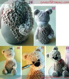 Teddy maci készítése kéepkben Fondantot, ételfestéket ,eszközöket vásárolj a GlazurShopban! http://shop.glazur.hu