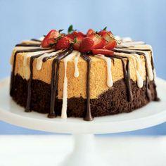 Black and White Angel Food Cake | CookingLight.com