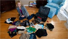Heather Poole, a flight attendant from Los Angeles, demonstrated how to pack enough for a 10-day trip into a single standard carry-on.