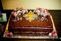Thanks to Dustin Delahoussaye for sending us this picture of his Groom's Cake! #Saints #NOLA #cake #GroomsCake