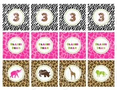 GIRLY JUNGLE SILHOUETTE cupcake toppers   by PrettyPartyCreations, $5.50