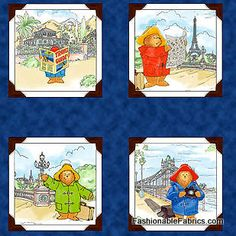 Fabric... Paddington's Travels Panel by Quilting Treasures