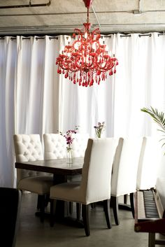 Love the red chandelier - stunning.