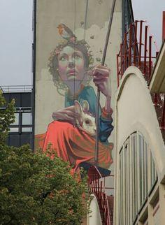 "Sainer "" High Hopes "" New Mural In Paris, France"