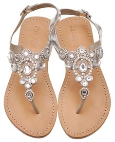 Jeweled Sandals. Can it please be flip flop season again now?!
