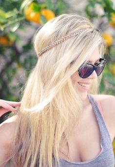 necklace headband DIY