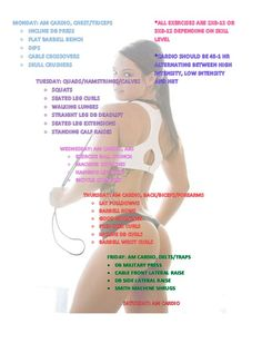 5 day split workout. Workout; Weight lifting; 5-day split;