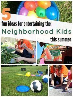 5 fun ideas for entertaining the neighborhood kids this summer StuffedSuitcase.com