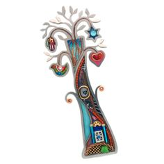 Funky Symbols Tree of Life Mezuzah $120.00
