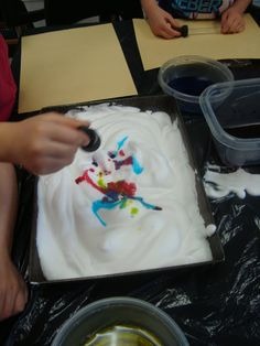 """Shaving Cream Prints from Playful Learning in the Early Years ("""",)"""