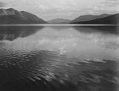 "ANSEL, ADAMS "" McDonald Lake, Glacier National Park, Montana. """