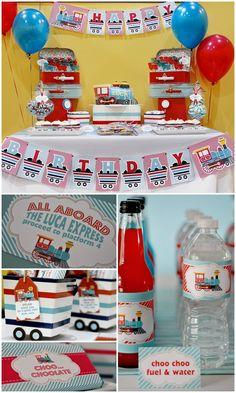 Choo Choo Train Birthday Party with tons of ideas!