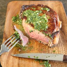 Rib-Eye Steaks with Chimichurri | SAVEUR