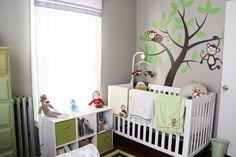 Monkey Themed Baby Nursery #babyboy