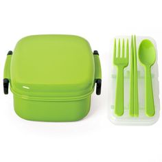 Bento Box And Cutlery Set Green now featured on Fab.